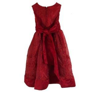 RARE EDITIONS Dresses - RARE EDITIONS | SZ 6  GIRLS MULTI LAYER RED DRESS